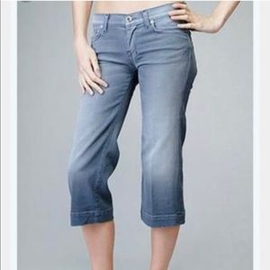7 For All Mankind Jeans Crop Dojo Peru Dusty Blue